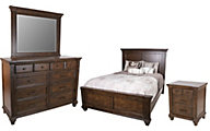 A America Gallatin 4-Piece King Bedroom Set