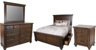A America Gallatin 4-Piece Queen Storage Bedroom Set