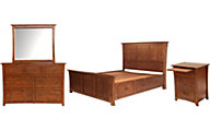 A America Grant Park 4-Piece Queen Storage Bedroom Set