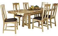 A America Cattail Bungalow 7-Piece Trestle Dining Set