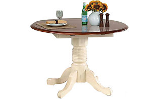 A America British Isles 42 Round Drop Leaf Dining Table