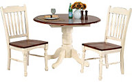 A America British Isles 3-Piece Round Drop Leaf Dining Set