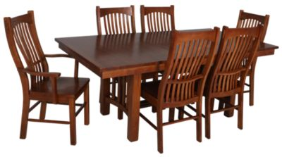 A America Laurelhurst 7 Piece Solid Oak Mission Dining Set