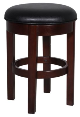 A America Parsons Black Swivel Counter Stool