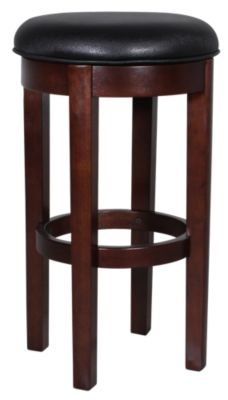 A America Parsons Black Swivel Bar Stool