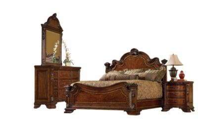 A R T Furniture Old World 4 Piece Queen Bedroom Set