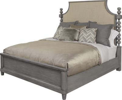A.R.T. Furniture Morrissey Smoke King Upholstered Bed