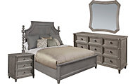 A.R.T. Furniture Morrissey Smoke 4-Piece King Panel Bedroom Set