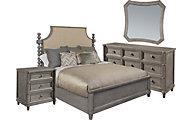 A.R.T. Furniture Morrissey Smoke 4-Piece Queen Uph. Bedroom Set