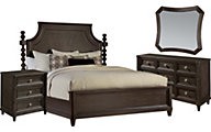 A.R.T. Furniture Morrissey Thistle 4-Piece King Panel Bedroom Set
