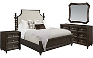 A.R.T. Furniture Morrissey Thistle 4-Piece King Uph. Bedroom Set