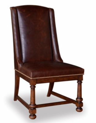 A.R.T. Furniture Whiskey Oak Leather Side Chair