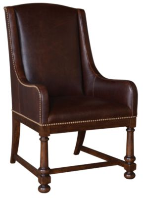 A.R.T. Furniture Whiskey Oak Leather Arm Chair