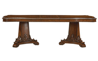 A.R.T. Furniture Old World Double Pedestal Table