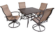 Agio Bellevue Outdoor Dining Table & 4 Swivel Chairs