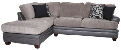Albany Industries 8642 Granite Left-Side Chaise 2-Piece Sectional
