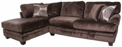Albany Industries 8642 Chocolate Left-Side Chaise 2-Piece Sectional