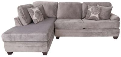 Albany Industries 8642 Collection Gray Left-Side Chaise Sofa