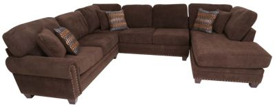 Albany Industries Bingo 3-Piece Right-Side Chaise Sectional