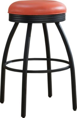 American Heritage Manhattan Orange Swivel Barstool