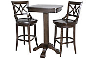 American Heritage Sarsetta Pub Table & 2 Vista Bar Stools
