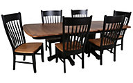 Daniel's Amish Eastchester Table & 6 Buckeye Chairs