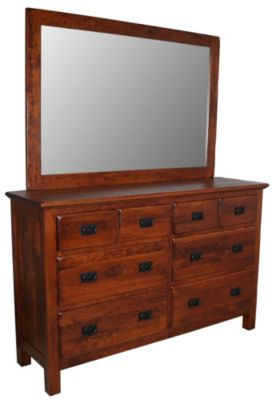 Daniel's Amish Lewiston Mission Dresser with Mirror