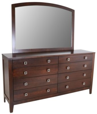 Daniel's Amish Nouveau Dresser with Mirror