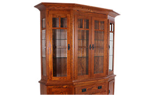 Daniel's Amish Canted Hutch Top Only