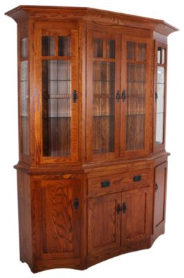 Daniel's Amish Canted Hutch & Buffet