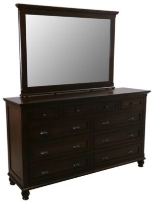 Daniel's Amish Regal Dresser with Mirror
