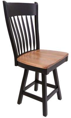 Daniel's Amish Buckeye Swivel Counter Stool