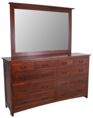 Daniel's Amish Treasures Dresser with Mirror