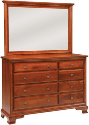 Daniel's Amish Classic Dresser with Mirror