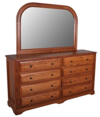 Daniel's Amish Victorian Dresser with Mirror