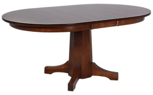 Daniel's Amish Amish Solid Maple Pedestal Table