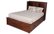 Daniel's Amish New Mission Queen Storage Bed