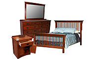Daniel's Amish New Mission King Bed/Dresser/Mirror/Nightstand