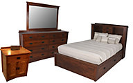 Daniel's Amish New Mission Queen Bed/Dresser/Mirror/Nightstand