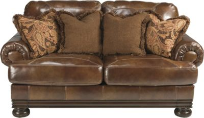 Ashley Hutcherson Leather Loveseat