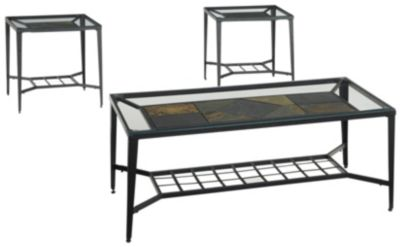 Ashley Calder Coffee Table & 2 End Tables