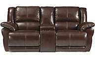 Ashley Lenoris Leather Glider Power Reclining Loveseat