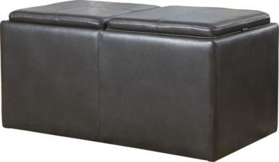 Ashley Hodan Cocktail Ottoman with 2 Cubes