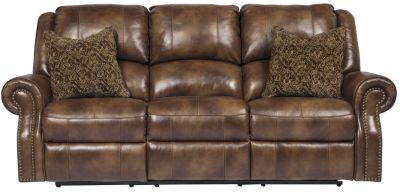 Ashley Walworth Leather Reclining Sofa