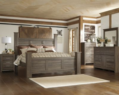 Ashley Juararo 4-Piece Queen Poster Bedroom Set
