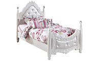Ashley Exquisite Twin Poster Bed