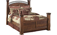 Ashley Timberline King Poster Bed