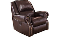 Ashley Walworth Leather Power Rocker Recliner