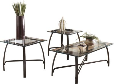 Ashley Liddy Coffee Table and 2 End Tables