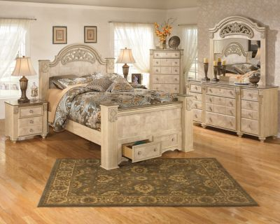 Ashley Saveaha 4-Piece King Storage Bedroom Set